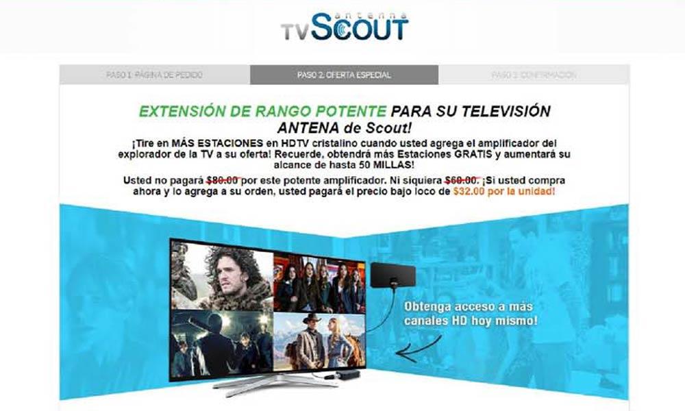 Extension de rango potente para su television antena de Scout