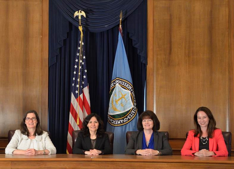 the four current FTC commissioners, all women