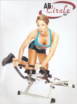 Imagen de la mujer trabajando en Ab Circle Pro