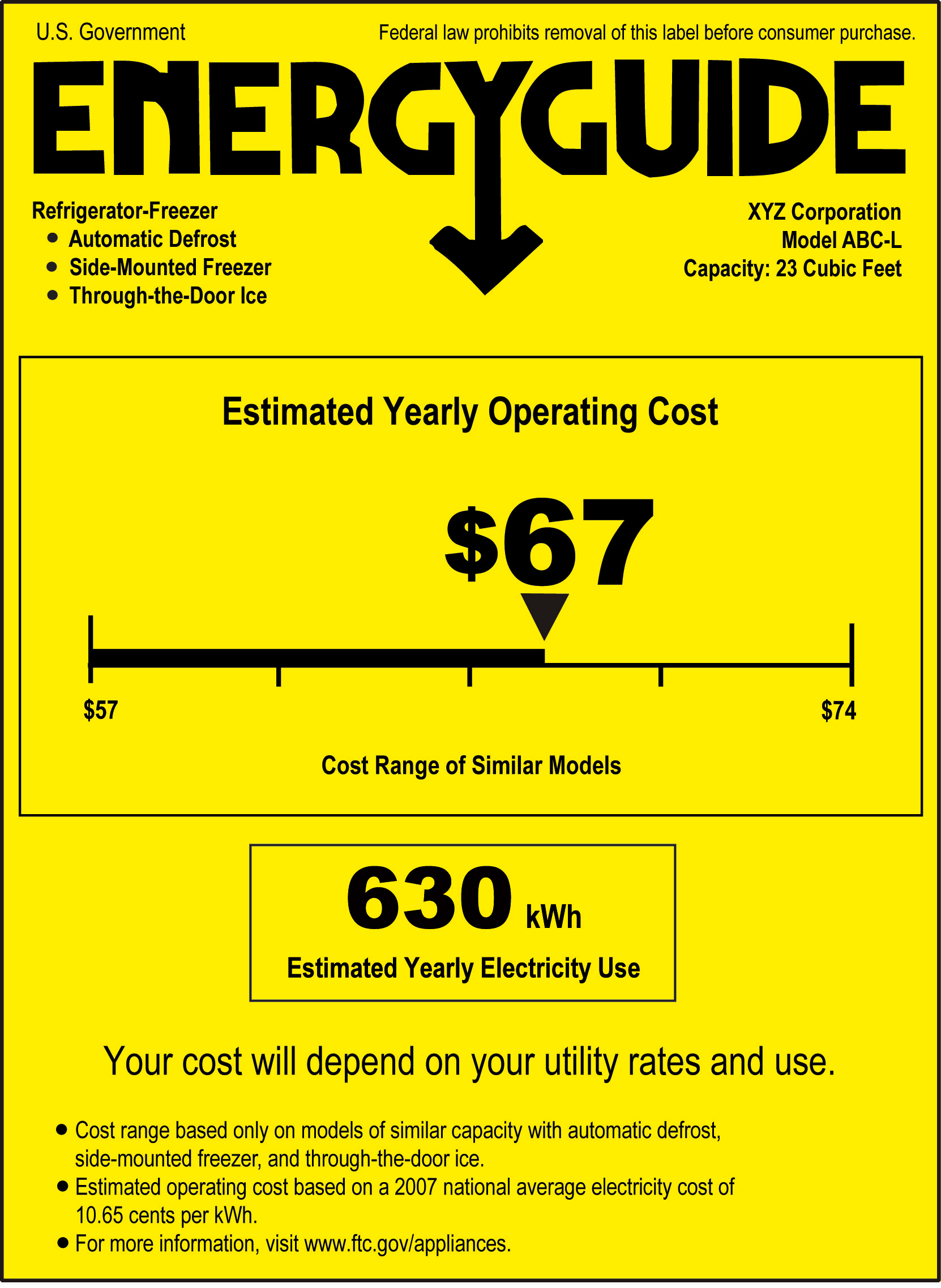 New Energy Guide Label (Click For Full Size)