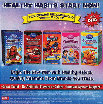 Healthy habits start now. Pediatrician recommended. Vitamin D 400 IU, with DHA.