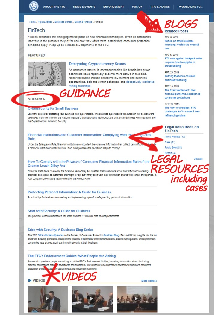 FTC FinTech page