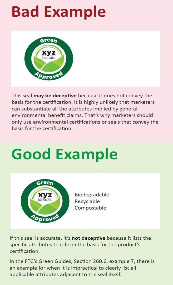 Green Certification Examples - Good and Bad