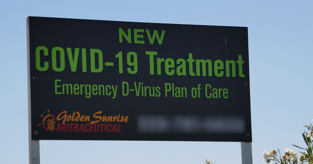 Billboard for COVID-19 Treatment