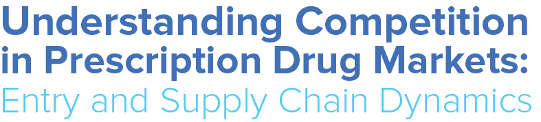 Understanding Competition in Prescription Drug Markets: Entry and Supply Chain Dynamics