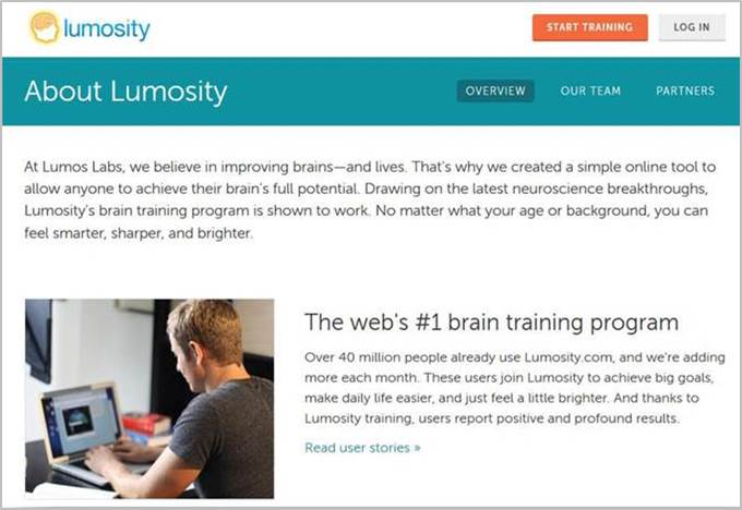 Mind the gap: What Lumosity promised vs  what it could prove