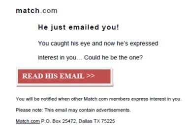 Match.com email