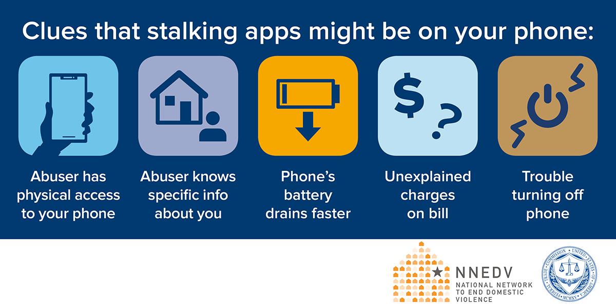 Stalking app infographic