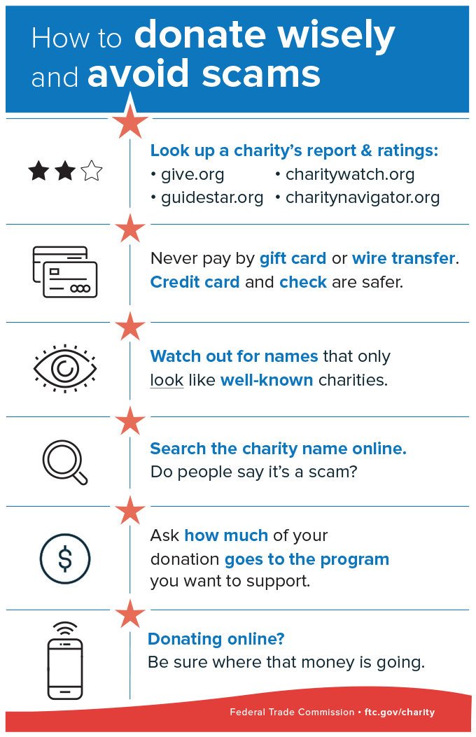 How to donate wisely and avoid charity scams