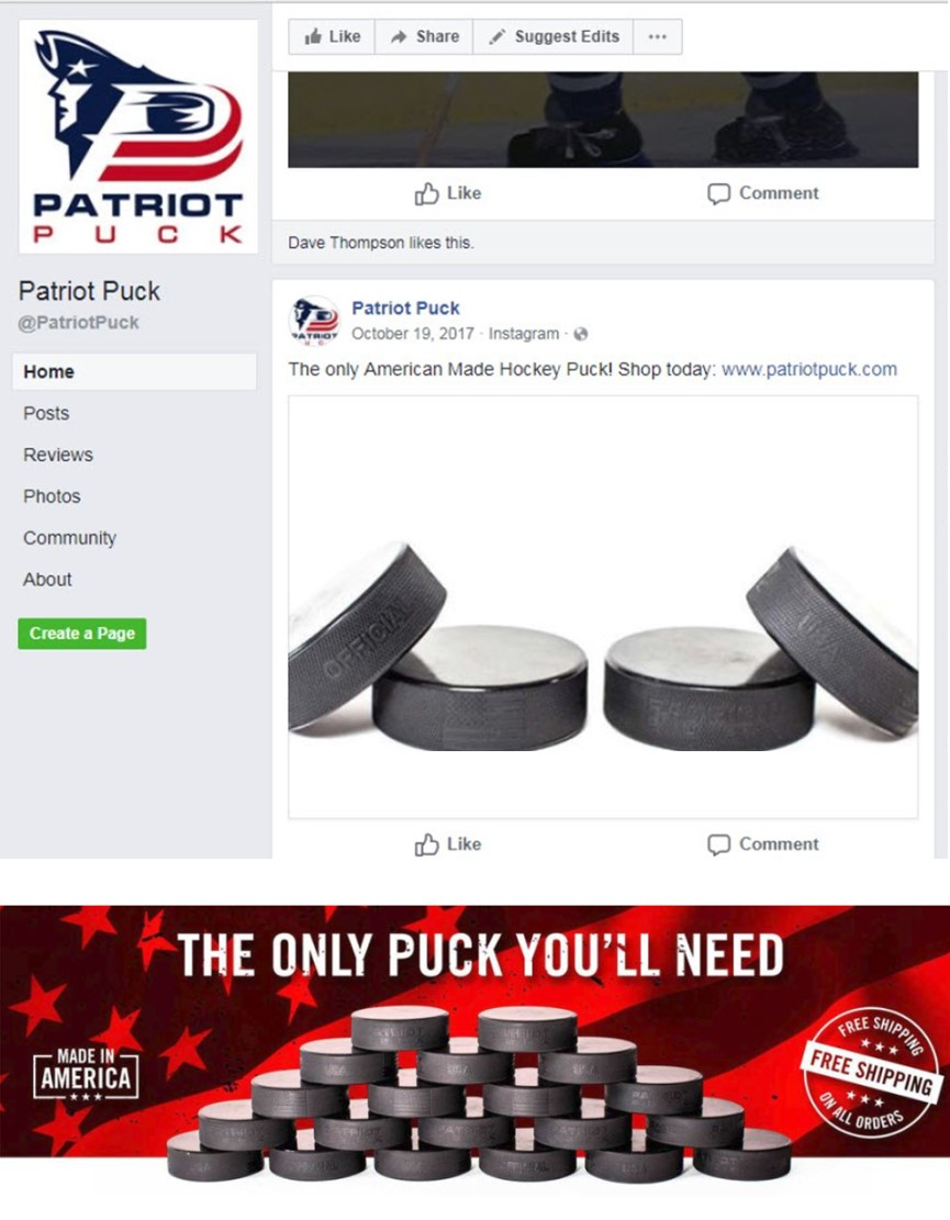 Image result for Patriot Puck