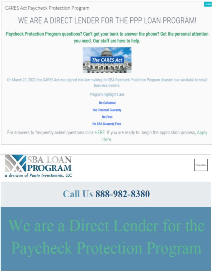 SBA Loan Program complain exhibits