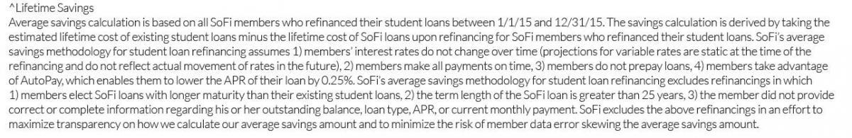 SoFi LifeTime Savings text