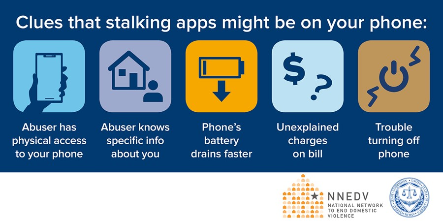 Stalking apps infographics