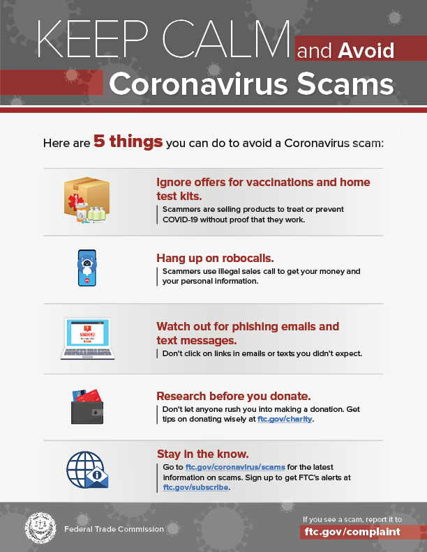 Coronavirus Advice For Consumers Federal Trade Commission