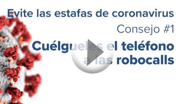 Thumbnail of coronavirus scam video.