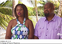 A couple buying a lot in Sanctuary Belize, featured inHGTC House HUnters Caribbean Life