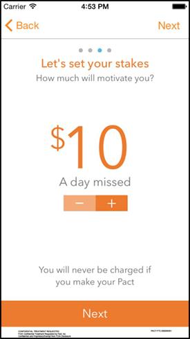 A screenshot of the Pact app