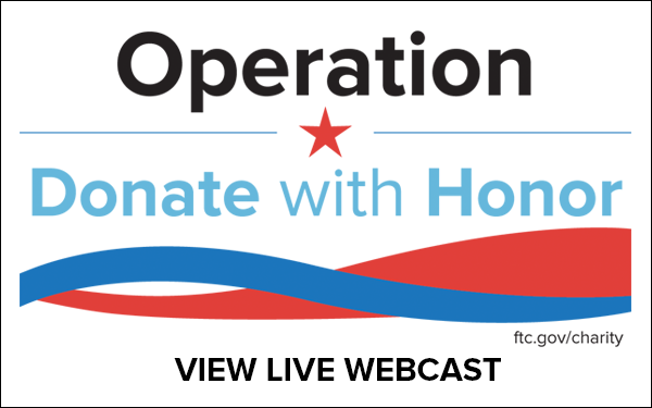 Operation Donate with Honor - View Live Webcast