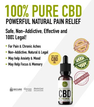 Advertisement - 100% Pure CBD Powerful Natural Pain Relief. Safe. Non-Addictive, Effective and 100% Legal! For Pain & Chronic Aches, Non-Addictive, Natural & Legal, May help Anxiety & Mood, May Help Focus & Memory