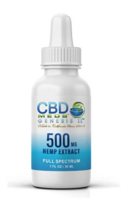 CBD Meds Genesis II - 500 mg hemp extract