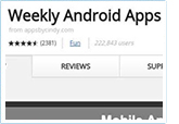 screenshot of list of Android app reviews