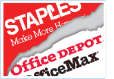 Staples and Office Depot logos
