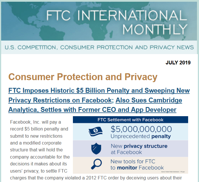 FTC International Monthly | Federal Trade Commission