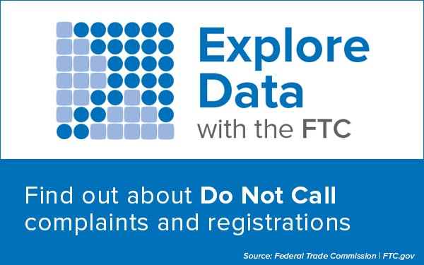 Explore Data with the FTC - Find out about Do Not Call complaints and registrations