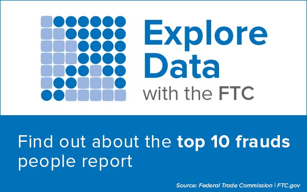 Explore Data with the FTC - Find out about the top 10 frauds people report