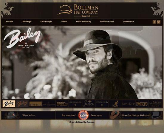 Bollman Hat website screengrab
