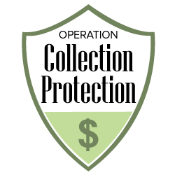 logo for Operation Collection Protection, a shield