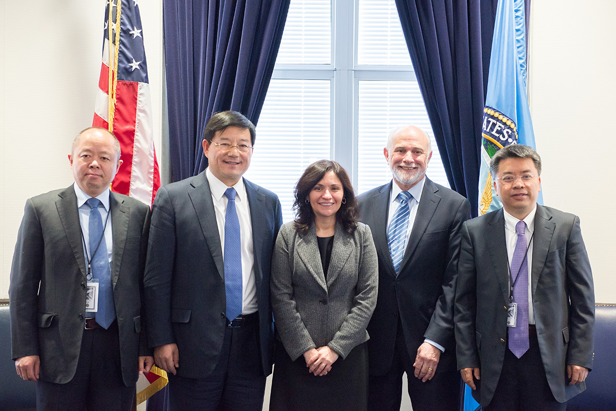 FTC, DOJ, and China officials meeting at the FTC