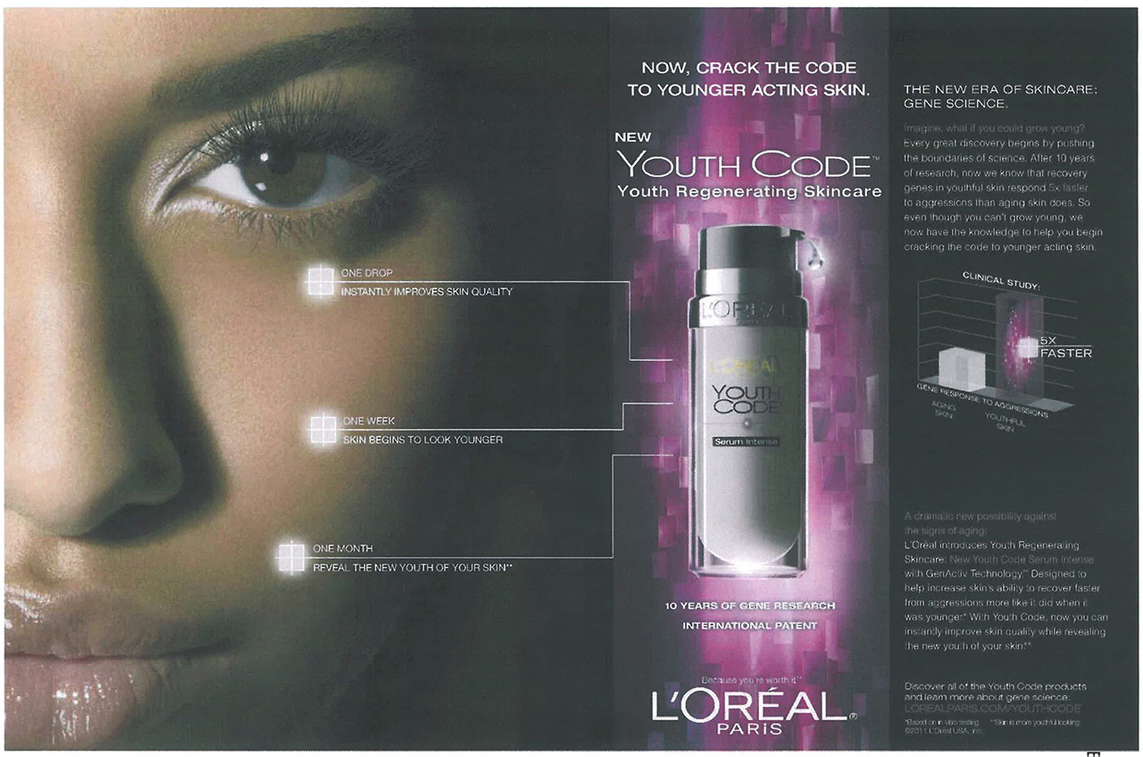 advertising of loreal Helen mirren is the new face of l'or al paris - joining a club of 50+ ladies with beauty contracts.