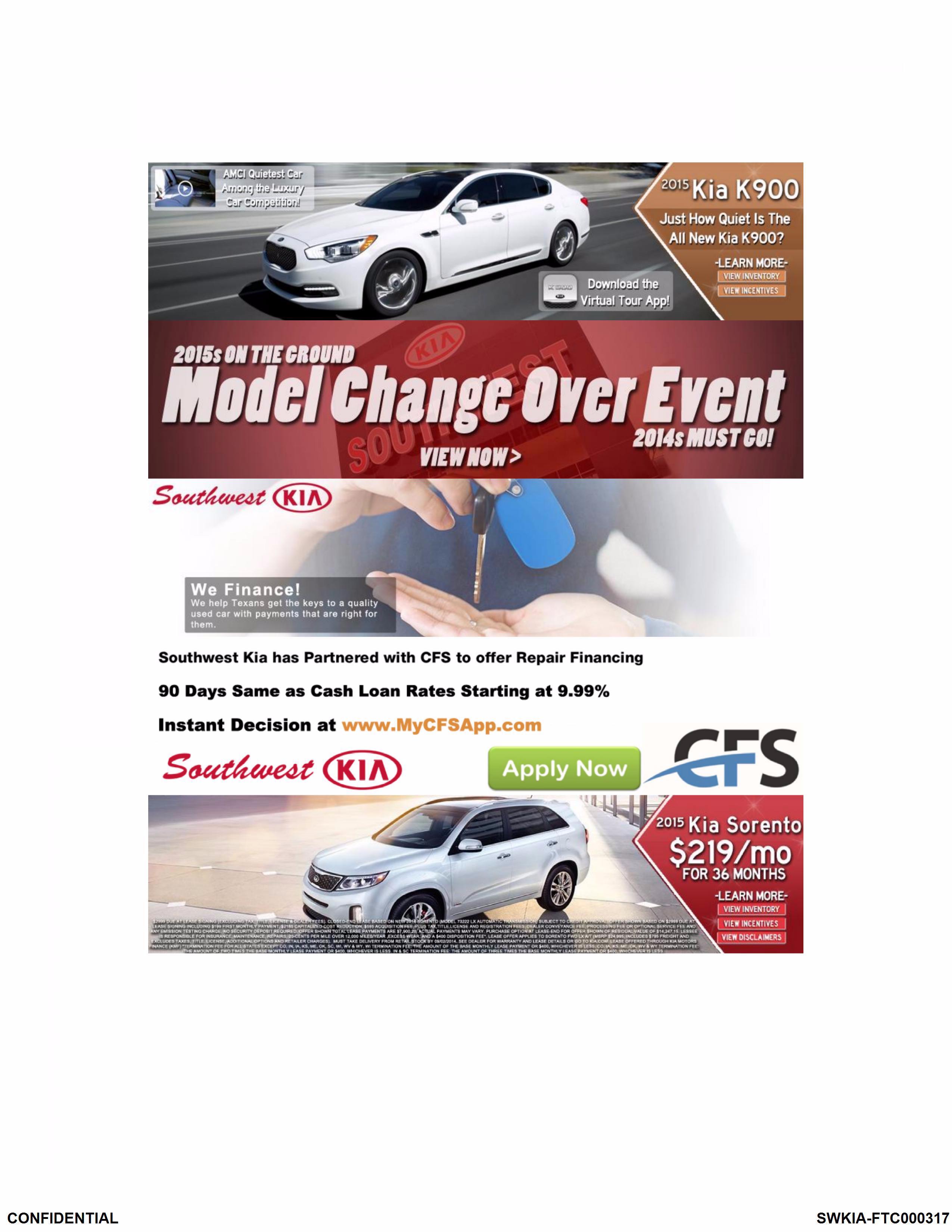 New World Auto Imports, Inc., d/b/a Southwest Kia, et al., In the ...